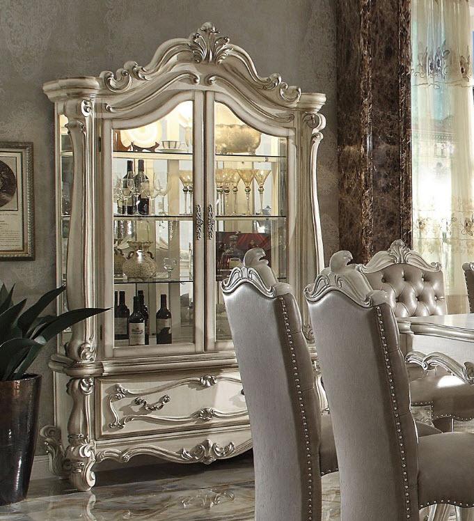 Bone White Curio Cabinet