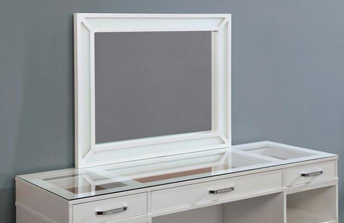 Luminous White Mirror