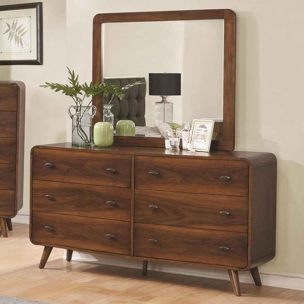 Robyn Mid Century Modern 6 Drawer Dresser