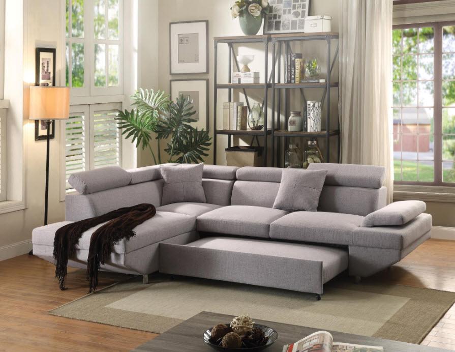 Jemima Gray Sectional Sleeper Sofa